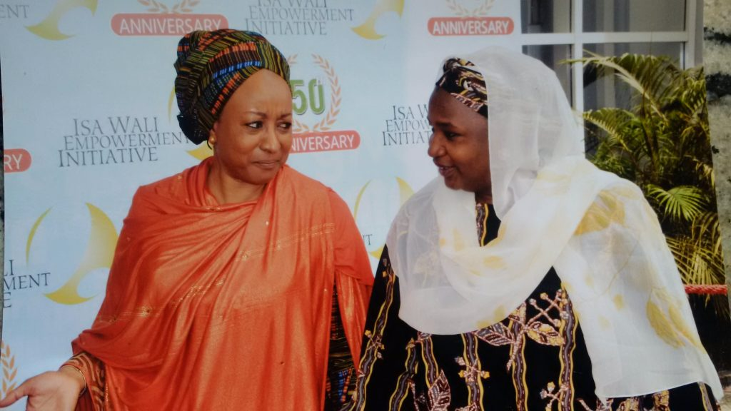 Hajiya Saudatu Mahdi, Sec. Gen of WRAPA with Mrs. Maryam Uwais, Founder of the ISA WALI Empowermemt initiative
