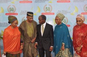 isa wali- vice president yemi osinbajo with the 4 children of late ambassador isa wali