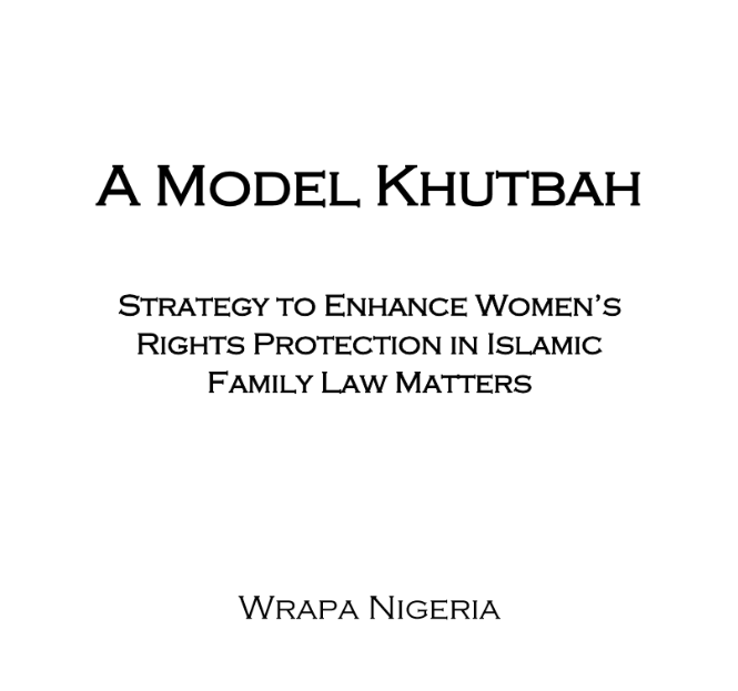 A MODEL KHUTBAH (In English)