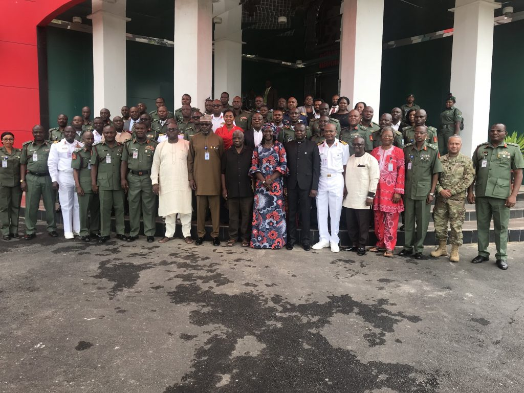 All participants at enhancing civil-miltary relations at NARC